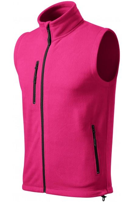 Fleece vest contrast Magenta