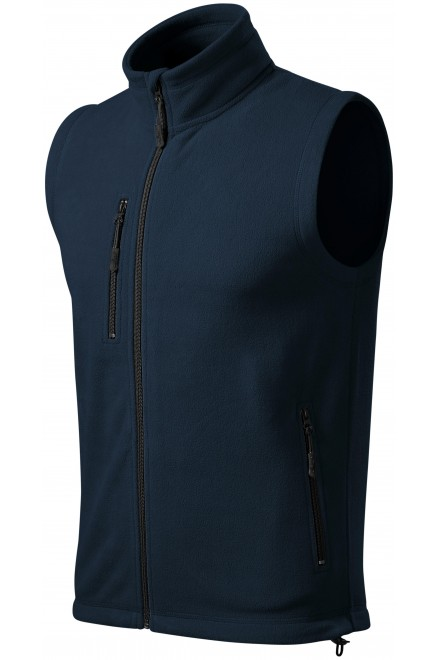 Fleece vest contrast Navy blue