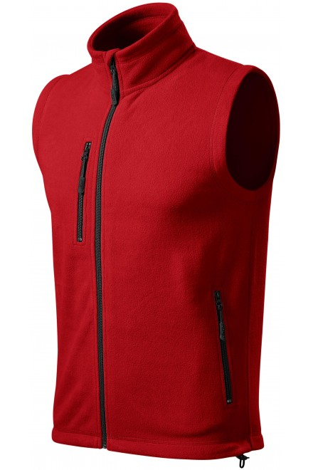 Fleece vest contrast Red