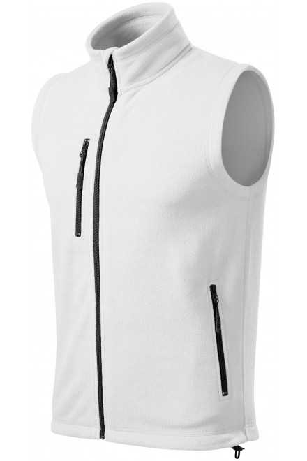 Fleece vest contrast White
