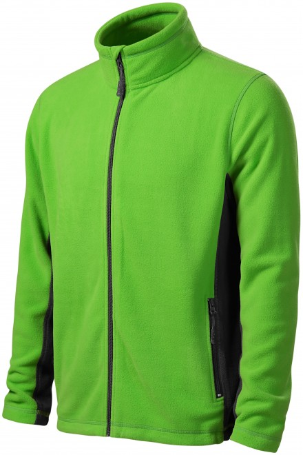 Men's fleece contrast jacket Apple green