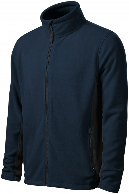 Men's fleece contrast jacket Navy blue