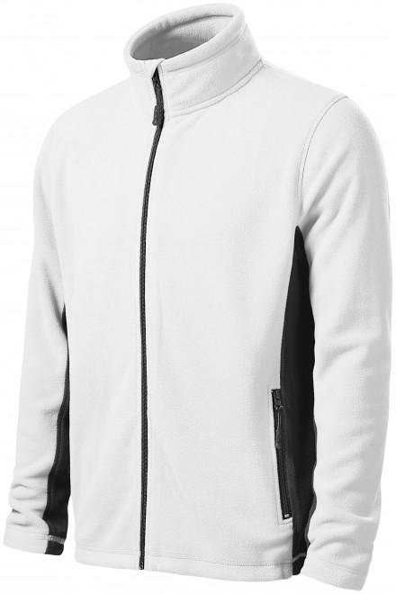 Men's fleece contrast jacket White
