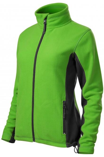Ladies fleece contrast jacket Apple green