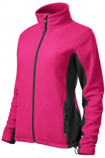 Ladies fleece contrast jacket Magenta