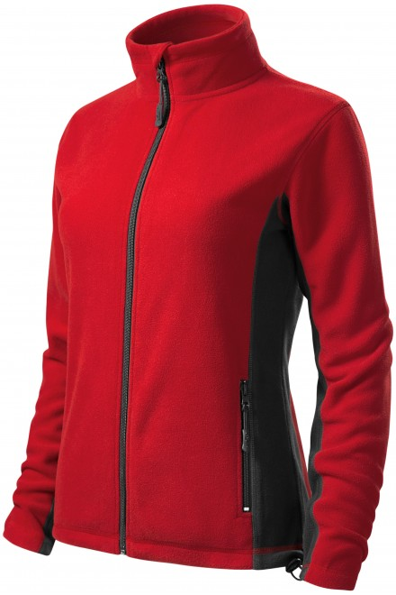 Ladies fleece contrast jacket Red