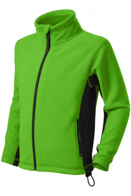 Childrens fleece contrast jacket Apple green