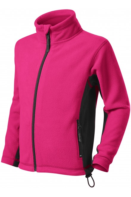 Childrens fleece contrast jacket Magenta
