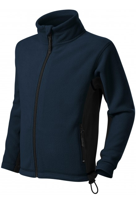 Childrens fleece contrast jacket Navy blue