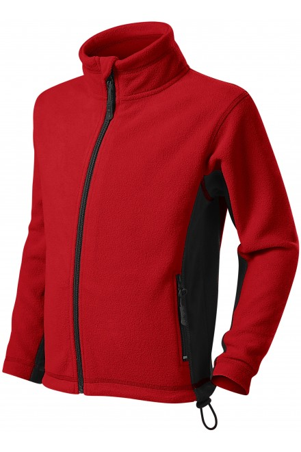 Childrens fleece contrast jacket Red