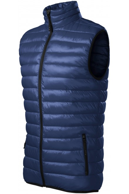 Men's quilted vest Navy blue
