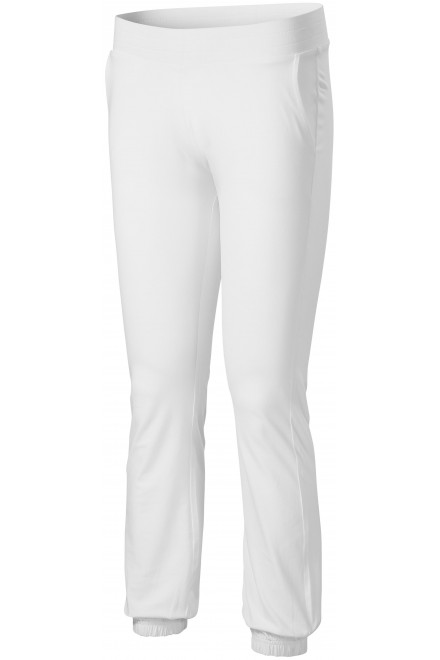 Ladies sweatpants with pockets White