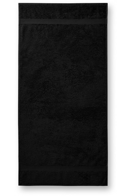 Coarse towel, 70x140cm Black