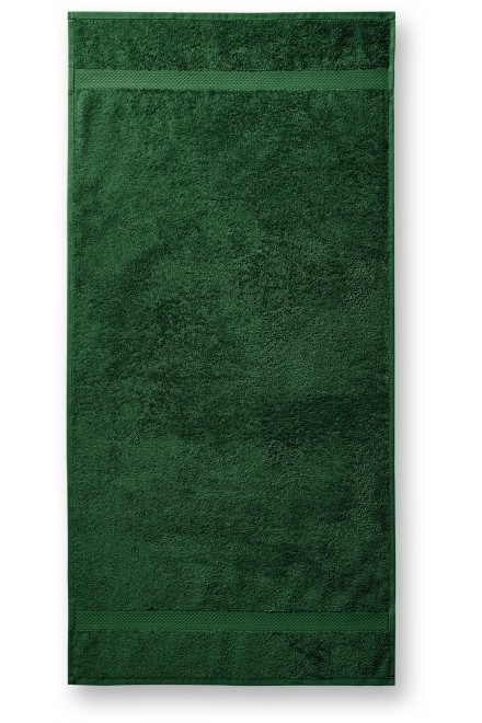 Coarse towel, 70x140cm Bottle green