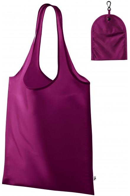 Shopping bag over shoulder Fuchsia red