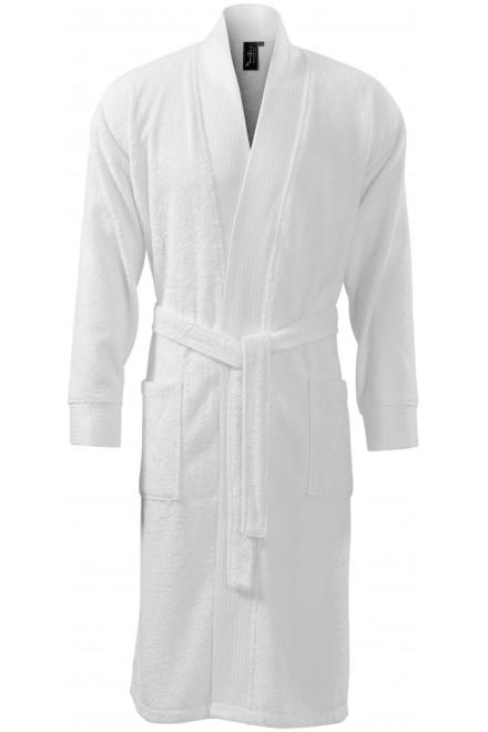Luxurious bamboo bathrobe White