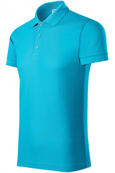 Comfortable men's polo shirt Bblue atol