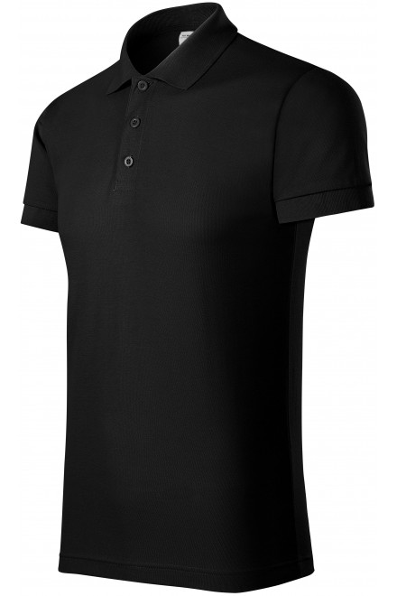 Comfortable men's polo shirt Black