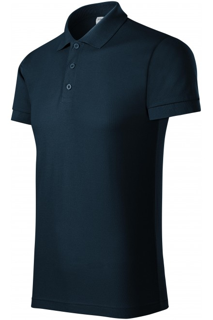Comfortable men's polo shirt Navy blue