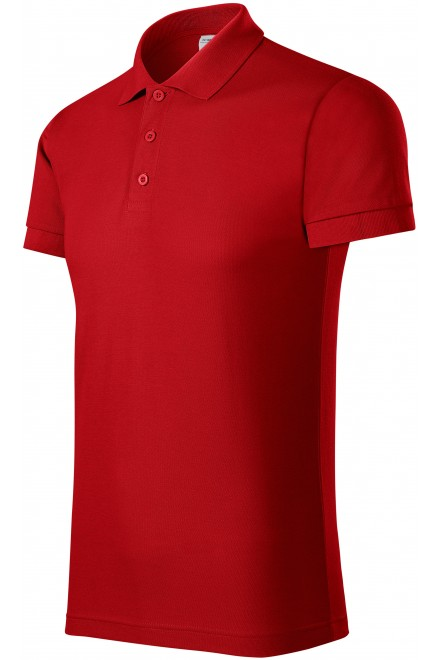 Comfortable men's polo shirt Red