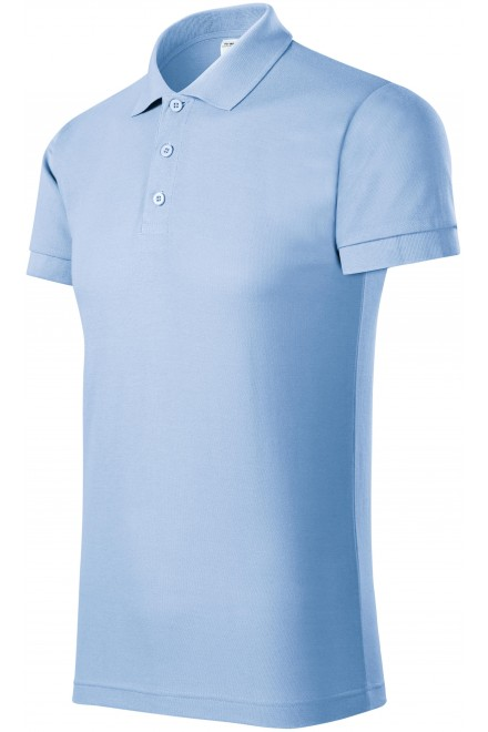 Comfortable men's polo shirt Sky blue