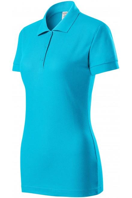 Ladies close fitting polo shirt Bblue atol