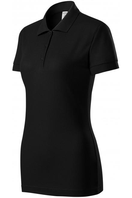 Ladies close fitting polo shirt Black