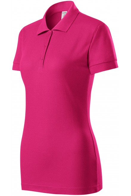Ladies close fitting polo shirt Magenta