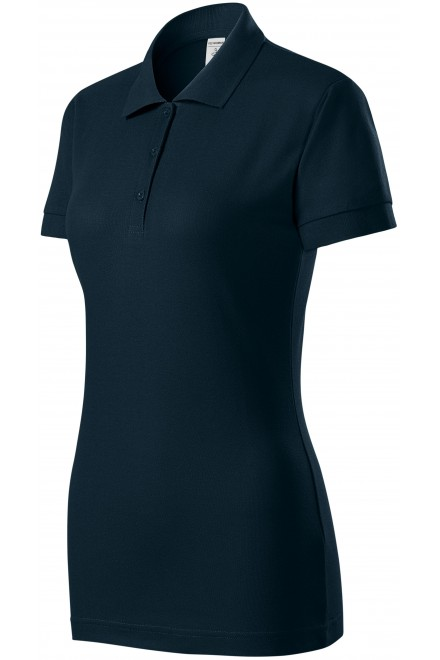 Ladies close fitting polo shirt Navy blue
