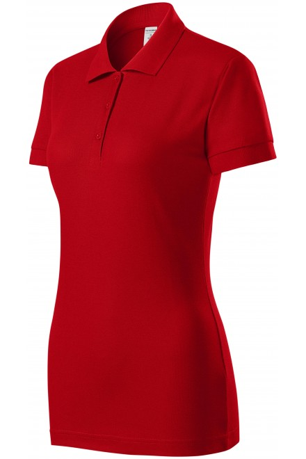 Ladies close fitting polo shirt Red