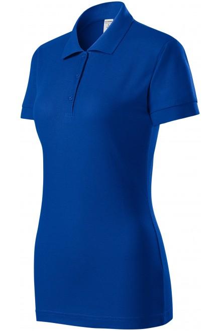 Ladies close fitting polo shirt Royal blue