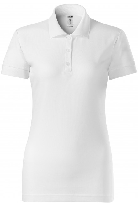 White ladies close fitting polo shirt