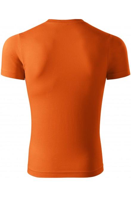 Orange t-shirt with short sleeves