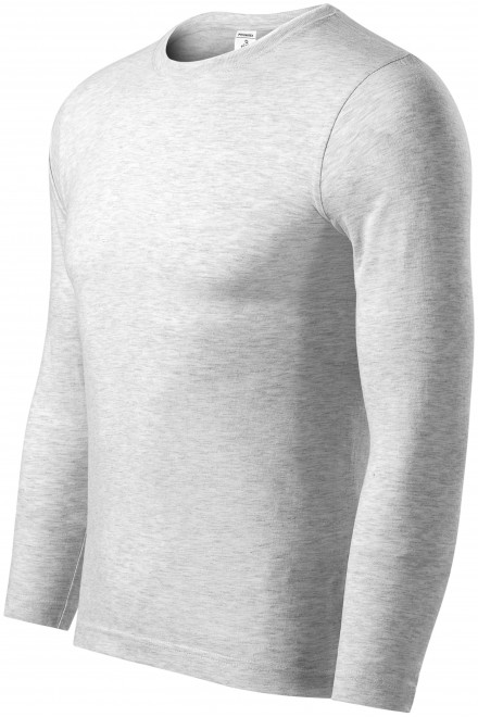 T-shirt with long sleeves, low weight Ash melange