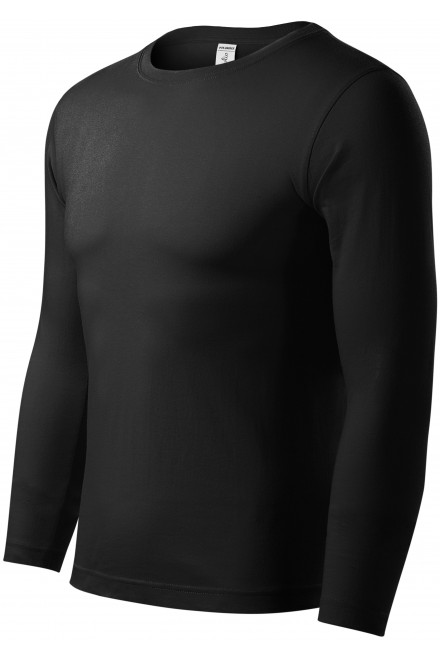 T-shirt with long sleeves, low weight Black