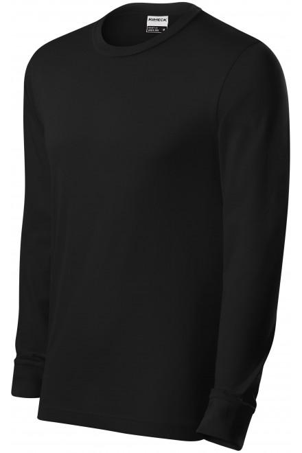 Durable men's long sleeve T-shirt Black