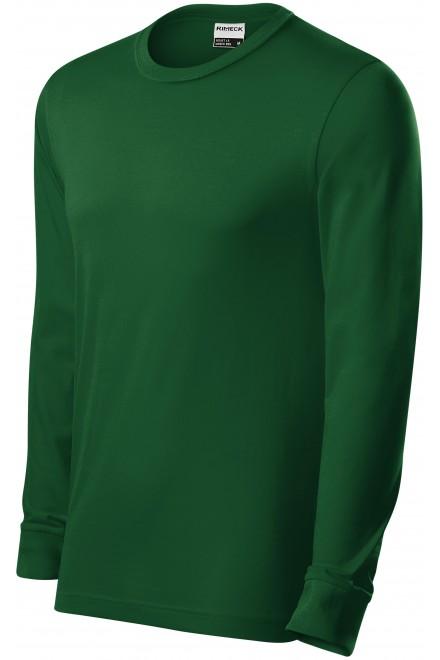 Durable men's long sleeve T-shirt Bottle green
