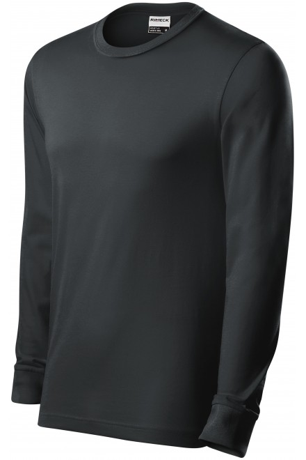 Durable men's long sleeve T-shirt Ebony gray