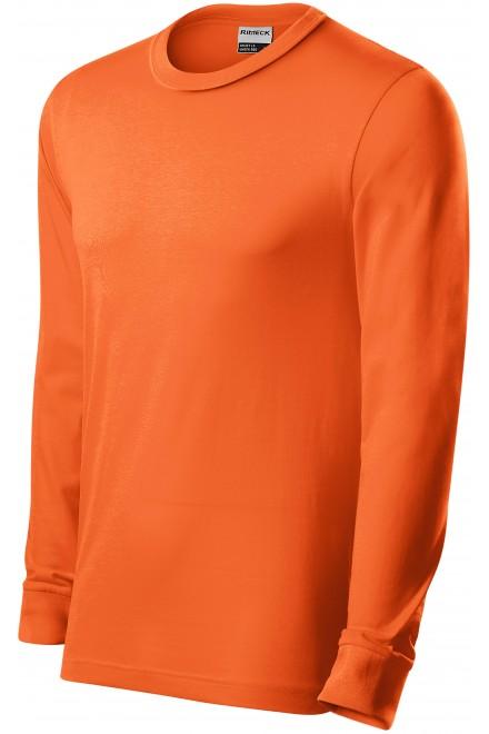 Durable men's long sleeve T-shirt Orange