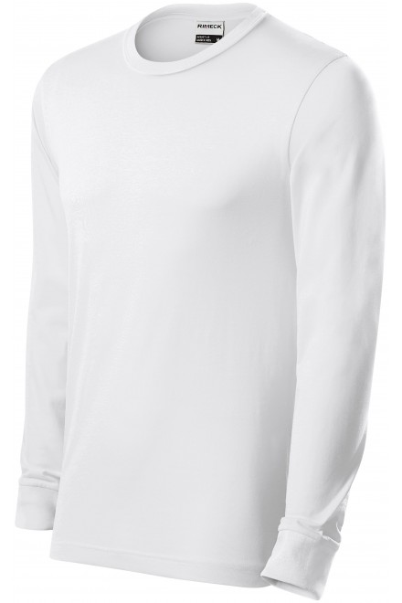 Durable men's long sleeve T-shirt White