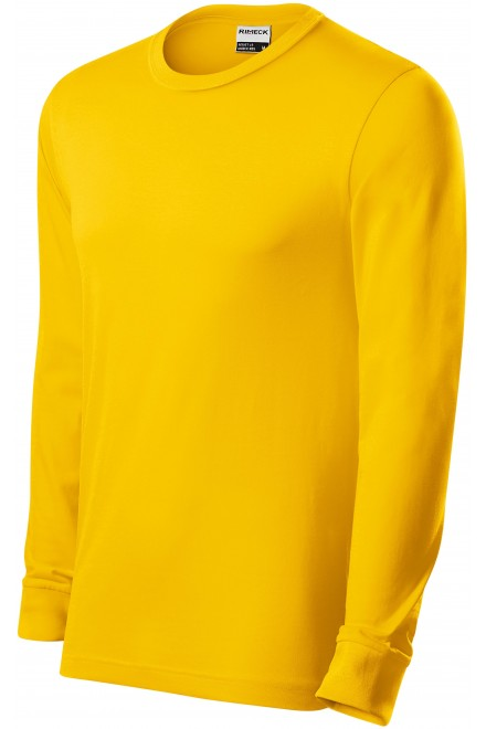 Durable men's long sleeve T-shirt Yellow