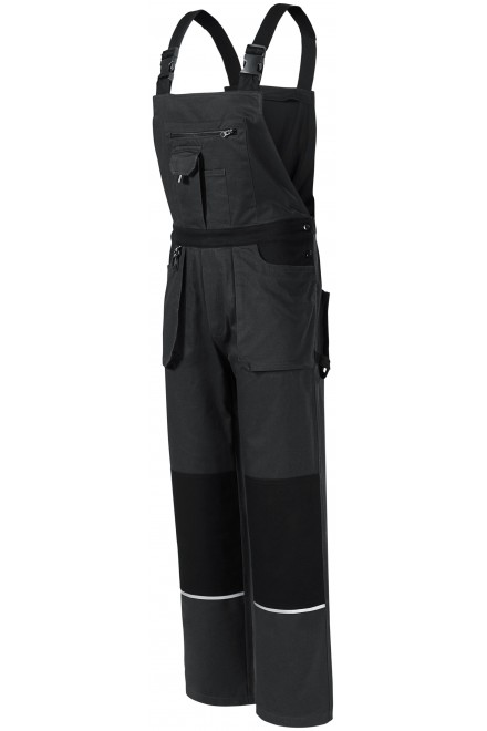 Men's working trousers with braces Ebony gray