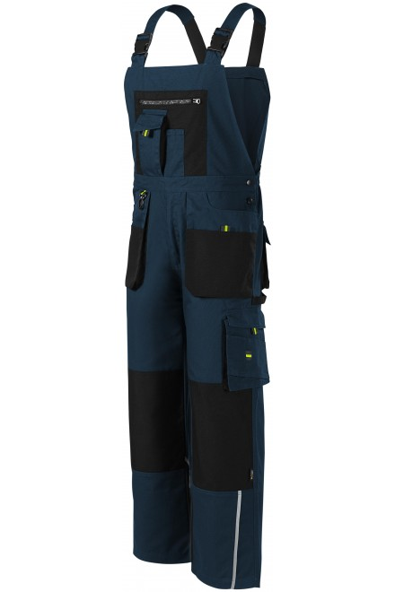 Men's working trousers with braces, enhanced Navy blue