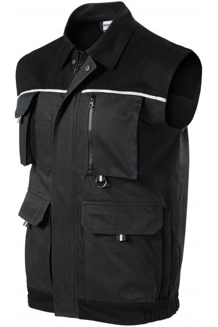 Men's working vest Ebony gray