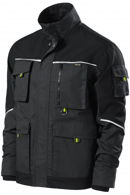 Men's working jacket enhanced Ebony gray