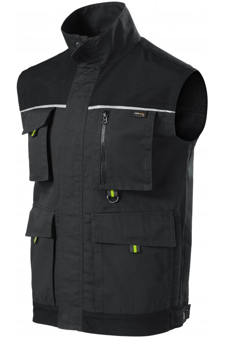 Men's enhanced working vest Ebony gray
