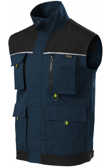 Men's enhanced working vest Navy blue