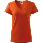 Orange ladies T-shirt with raglan sleeve