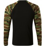 Camouflage brown camouflage t-shirt with long sleeves, XS
