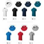 Formula red men's contrasting polo shirt